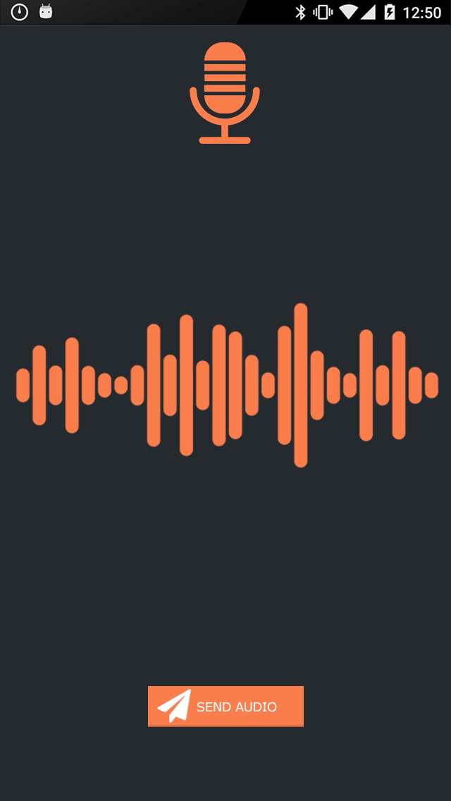 Send audios in real time